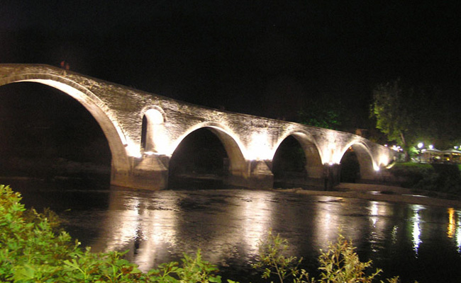 The historic bridge of Arta city
