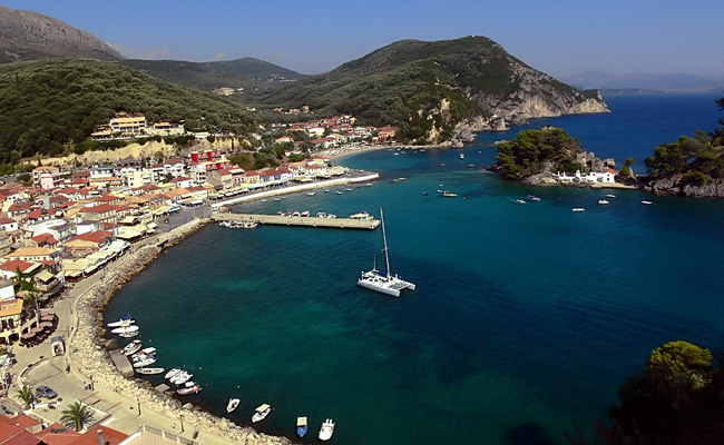 View of Parga town